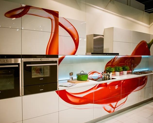 Awesome Kitchens Red Accents Slubne