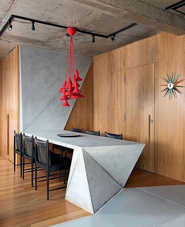 red modern chandelier