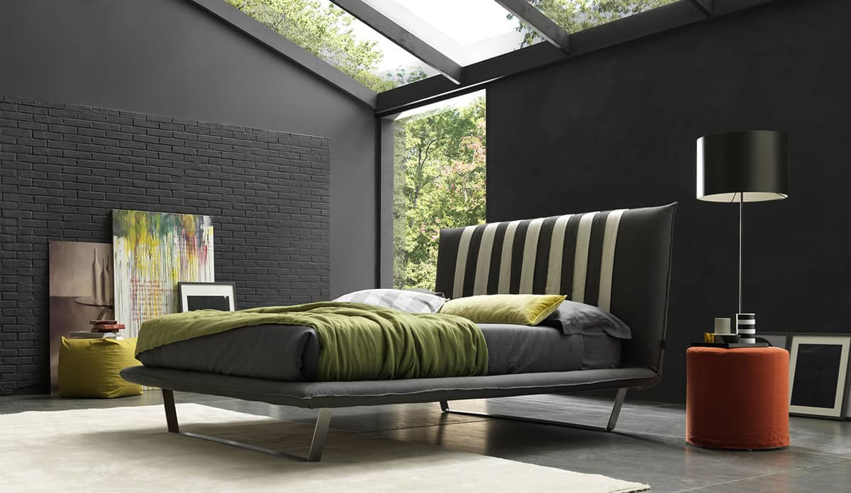 50 modern bedroom design ideas for Black and blue interior design