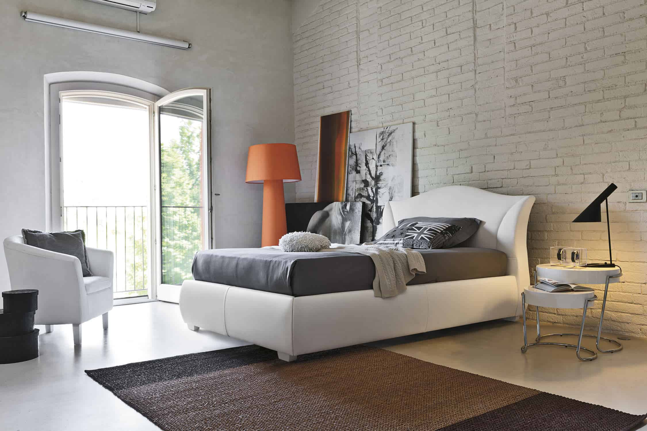 Modern Bedroom Design Ideas - White brick interiors