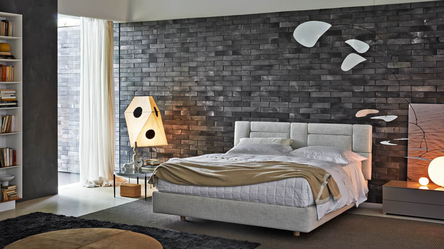 50 modern bedroom design ideas for Grey feature wallpaper bedroom