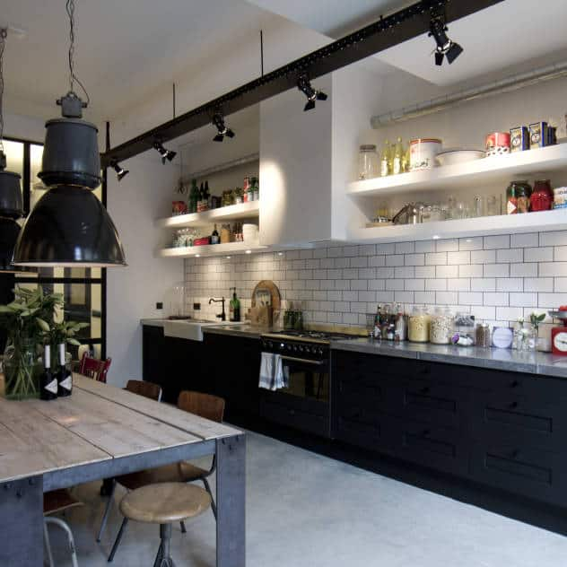 Lovely Amsterdam Industrial Kitchen