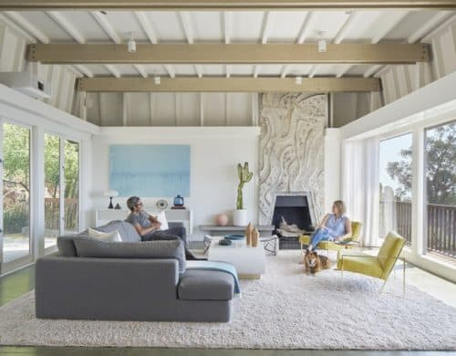 California Mid-Century Modern Has 13-foot Fireplace from Mexico