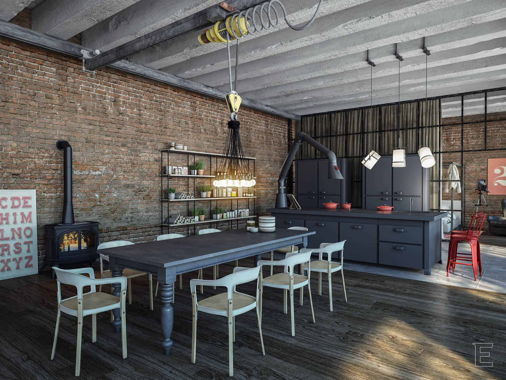 Industrial Kitchen Designs Adorable Industrial Style Kitchen Design Ideas Marvelous Images Design Ideas