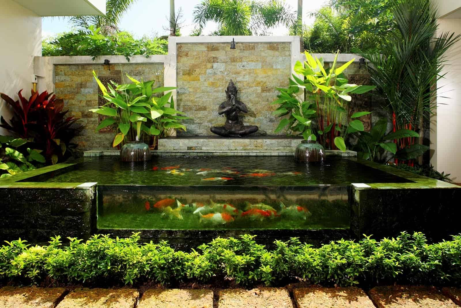 35 sublime koi pond designs and water garden ideas for for Backyard pond plants and fish