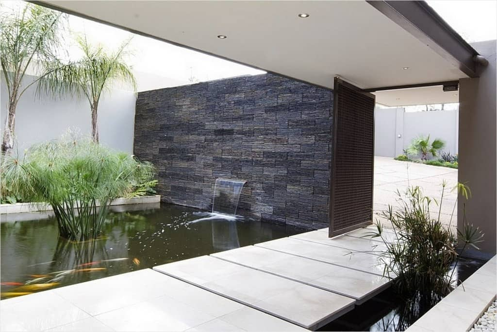 Or You Could Go For A Modern Entrance Accented With Koi Pond And Waterfall Faucet Coming From The Wall Of Stone Source