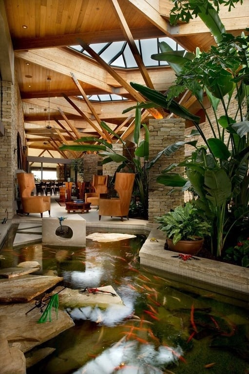 Beautiful 35 Sublime Koi Pond Designs And Water Garden Ideas For Modern Homes