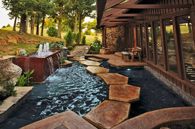 35 sublime koi pond designs and water garden ideas for for Stone koi pond