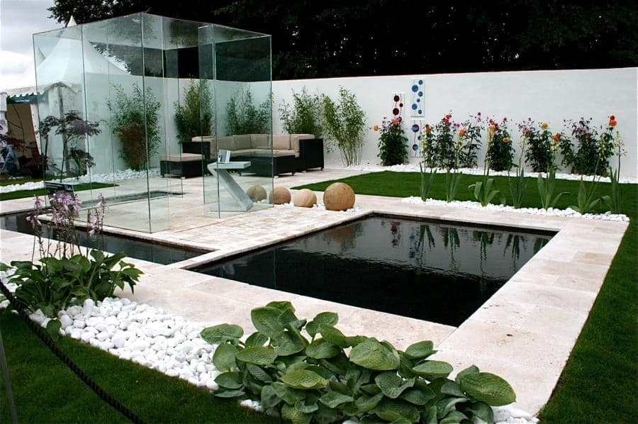 35 sublime koi pond designs and water garden ideas for for Modern garden pond designs