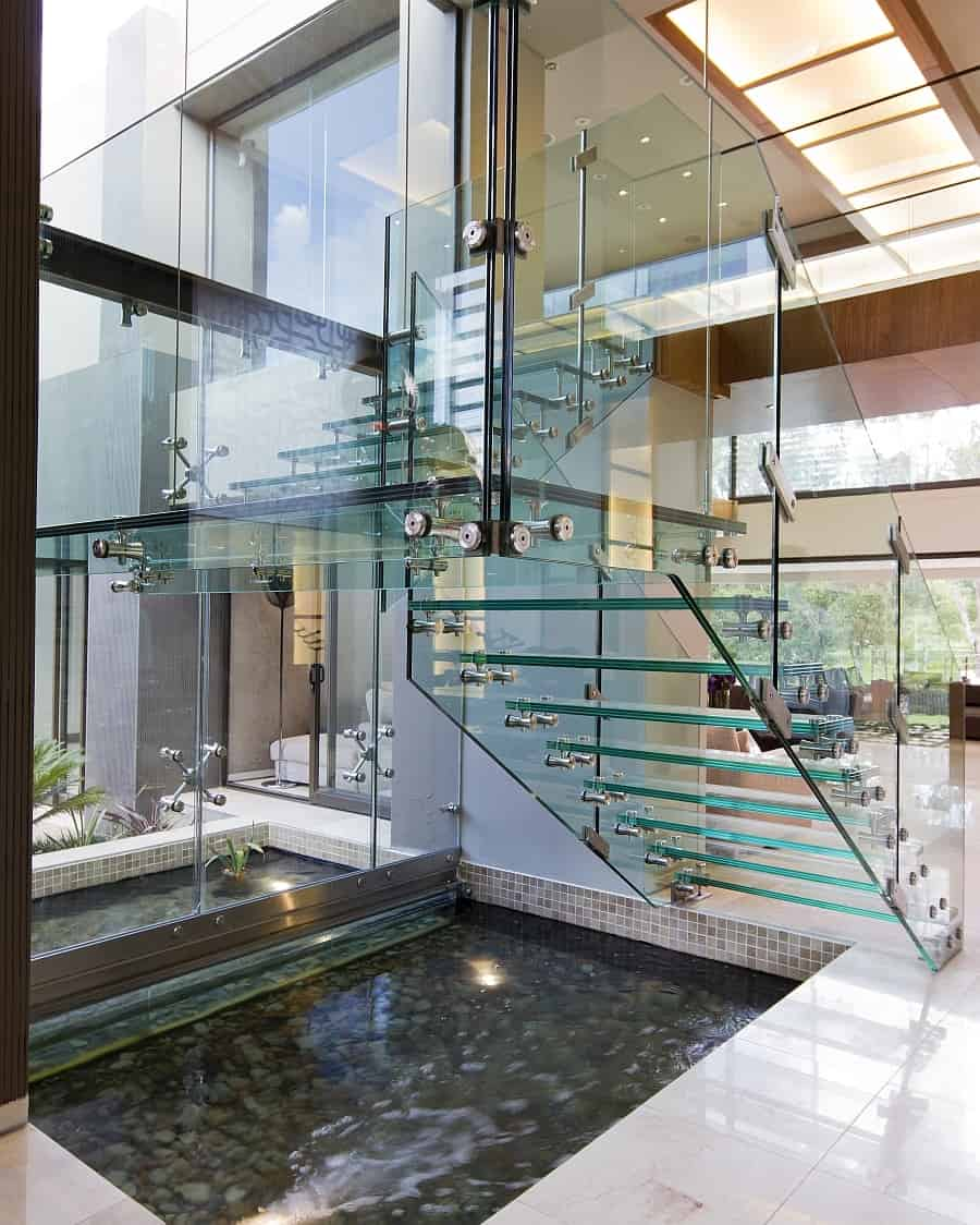 easy modern stairs design indoor. View in gallery  35 Sublime Koi Pond Designs and Water Garden Ideas for Modern Homes