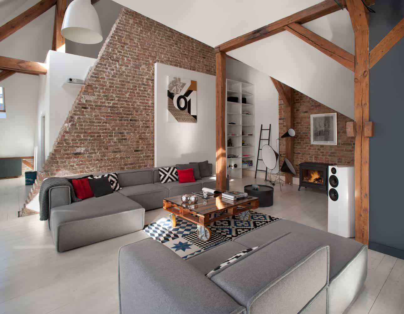 Office attic converted into loft apartment keeping for W loft