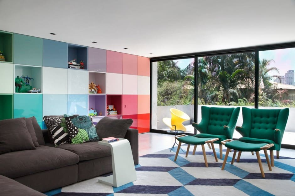 View In Gallery 70s Inspired Interiors Featuring Vintage Patterns And Color