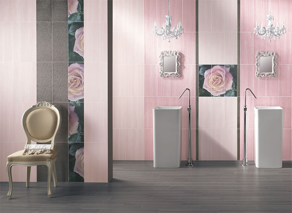 abk pink bathroom Stunning Bathroom Designs with Modern Italian Tile