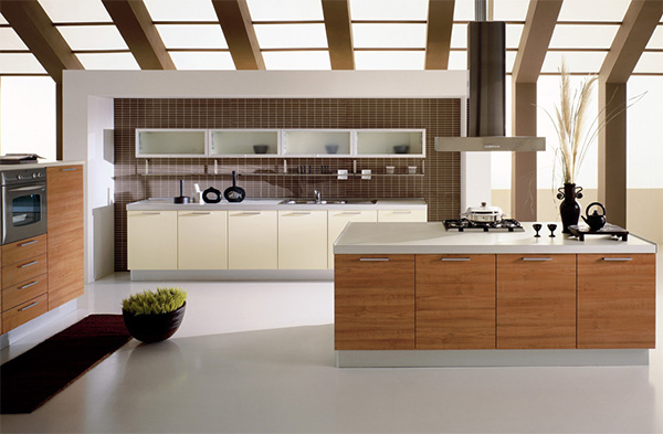 Kitchen With An Open Ceiling Concept Custom Kitchen Interior Designing Concept