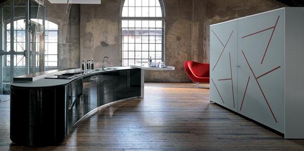 Kitchen Interiors dramatic kitchen interior designalessi - rustic and ultra