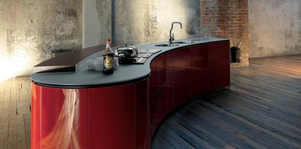 alessi kitchen interiors red