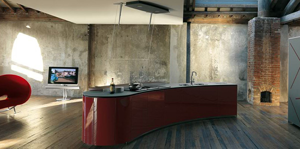 alessi kitchen interiors rustic ultra modern Dramatic Kitchen Interior Design by Alessi   Rustic and Ultra Modern combine