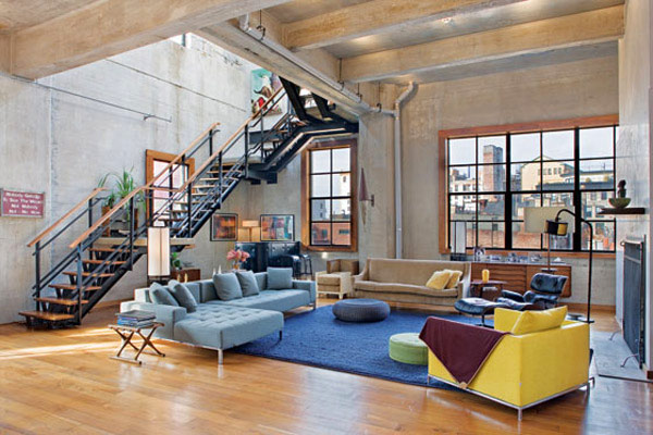 Unique loft interior design in new york for Idee deco loft new yorkais