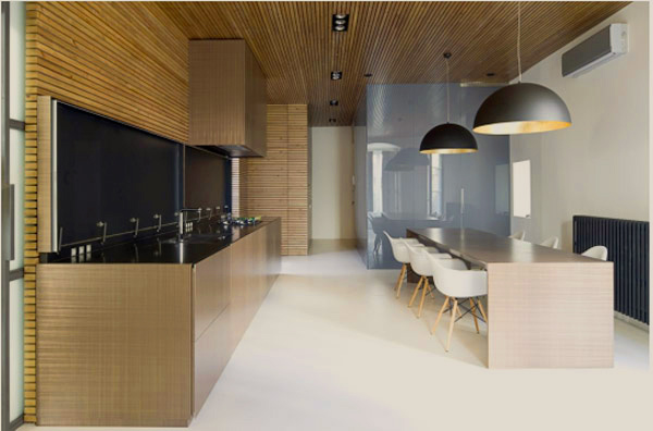 amazing zen like kitchen wood slat panelling 2 Amazing Zen Like Kitchen with Wood Slat Panelling