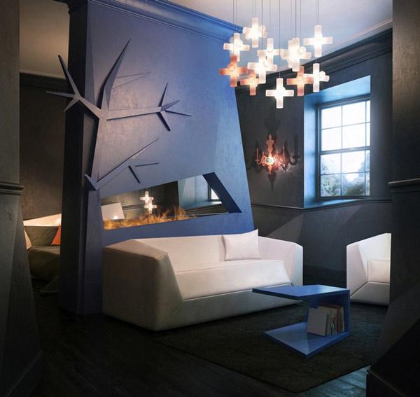 angular interior exciting lighting scheme 1