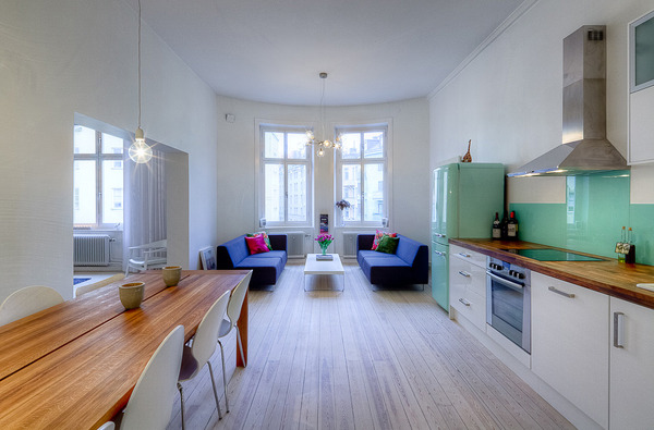 open concept apartment design stockholm 1 thumb 600x395 1257 Open Concept Apartment Design in Stockholm
