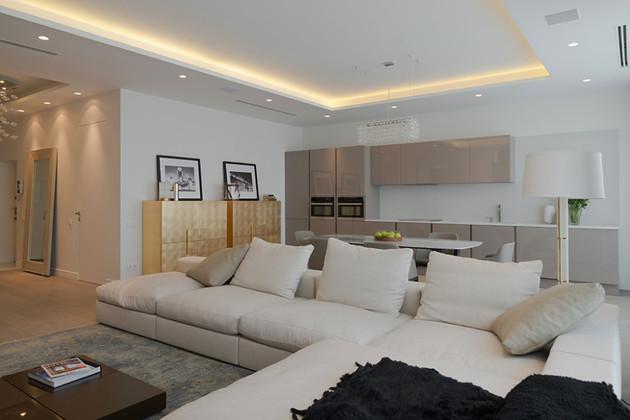 lighting details create drama modern open plan apartment 1 apartment thumb 630x420 17000 Lighting Details Create Drama in Modern Open Plan Apartment
