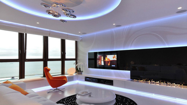stylish an modern apartment 1 thumb 630x354 14754 Stylish Contemporary Apartment Boasting Sophisticated Lighting System