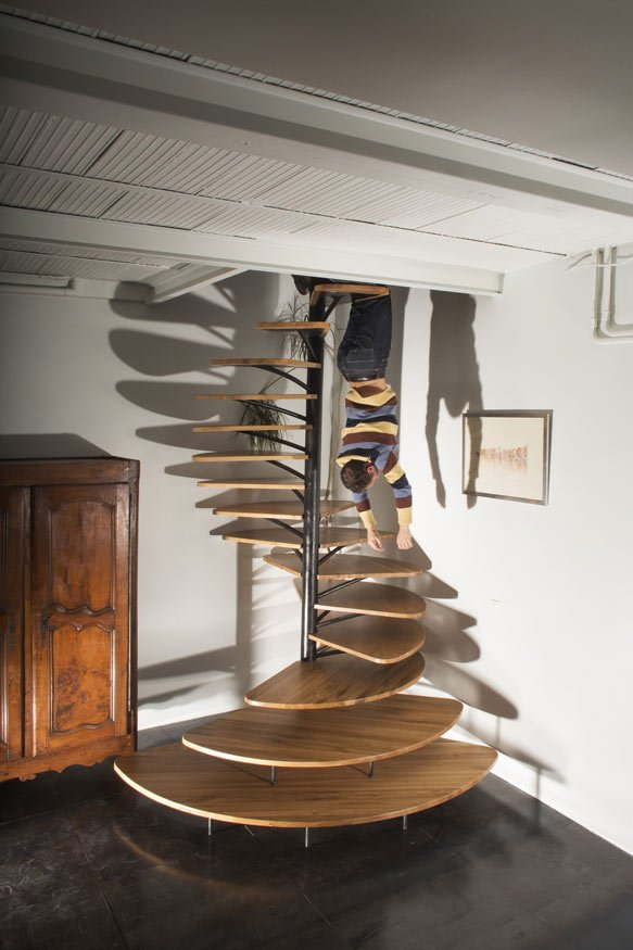 View In Gallery Oak Spiral Staircase Metal Backbone 3 Clearance
