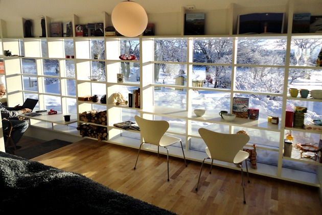 window frame transformed into shelves and desks 2 thumb 630x421 28737 Window Frame Transformed into Shelves and Desks