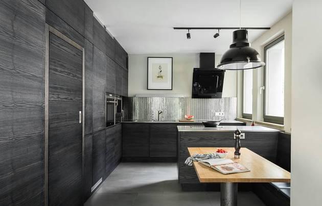 chic textured interiors with unique materials from karhard architektur 1 dark wood kitchen thumb 630xauto 33274 Chic Interiors With Unique Materials by Karhard Architektur