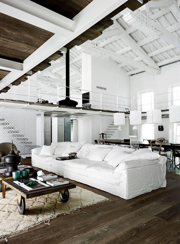 warehouse renovation ramps up visual volume 2 living thumb autox853 45490 Heavenly Interiors and Beautiful Floors: a Warehouse Renovation by Paola Navone