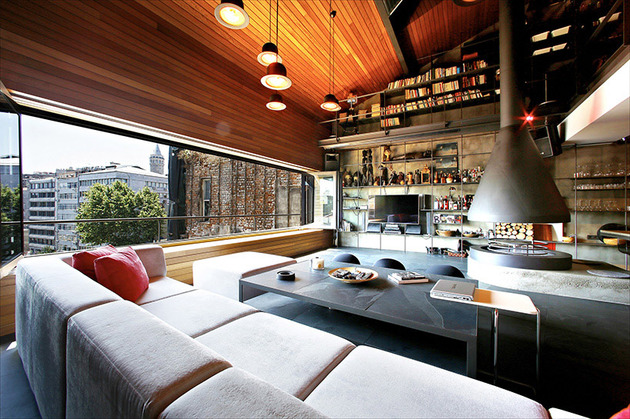 modern bachelor pad with open interior made for one 1 thumb 630xauto 46480 Modern Istanbul Bachelor Pad with Open Interior by Ofist