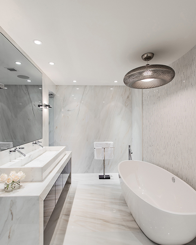 Modern neoclassical interiors mixed with contemporary by for Neoclassical bathroom designs