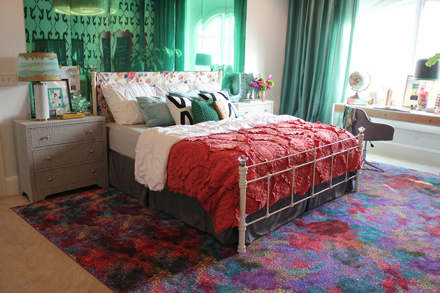 maximalist bedroom featuring green mirrored wall and dancers 1 thumb 630xauto 51772 Cool Teenage Girl Bedroom Idea by Kara Paslay Designs