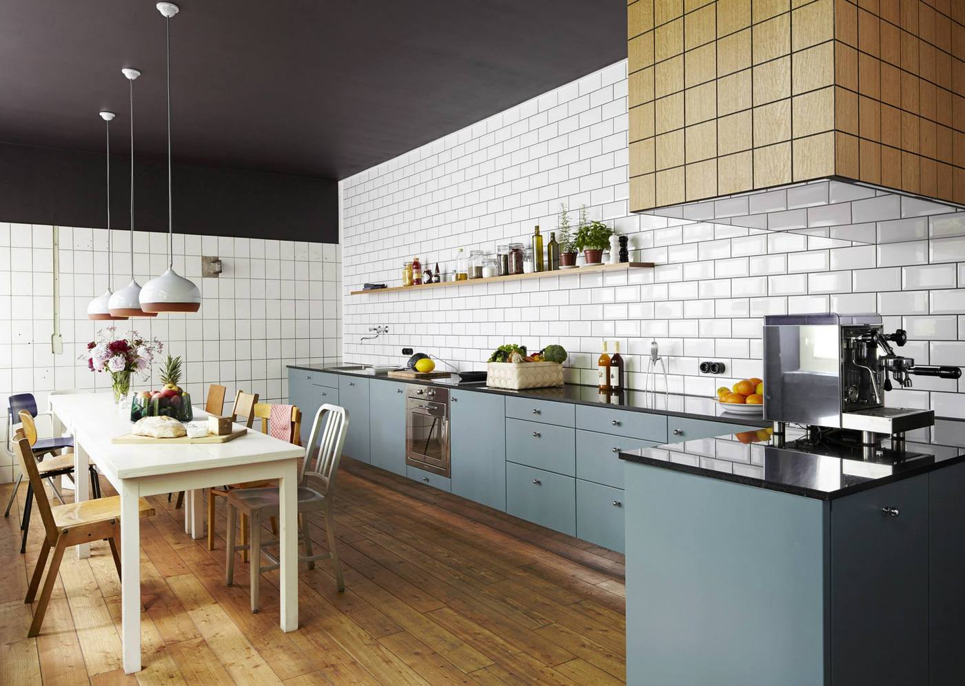 white subway tile kitchen designs are incredibly universal: urban