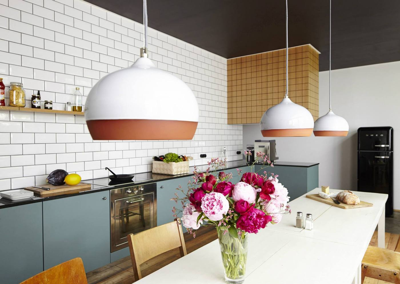 White subway tile kitchen designs are incredibly universal for Different kitchen designs