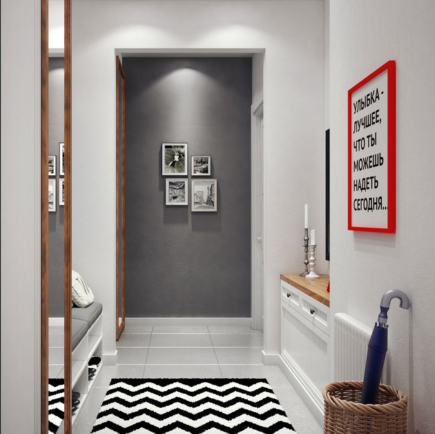 cozy idea for%20 a small foyer 2 thumb 630xauto 54478 Cozy Idea for a Small Foyer Design