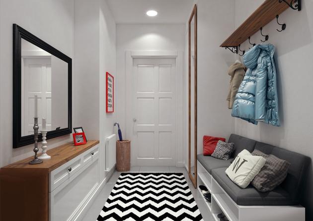 cozy idea for%20 a small foyer design 1 thumb 630xauto 54476 Cozy Idea for a Small Foyer Design