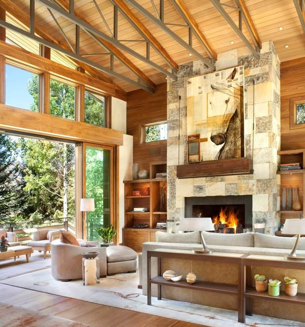 natural stone fireplace design 1 thumb autox674 54984 Striking Natural Stone Fireplace Design