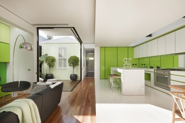 3 minimalist home outdoors inside color green thumb 630xauto 59098 Green Color Home Decor: bringing outdoors in