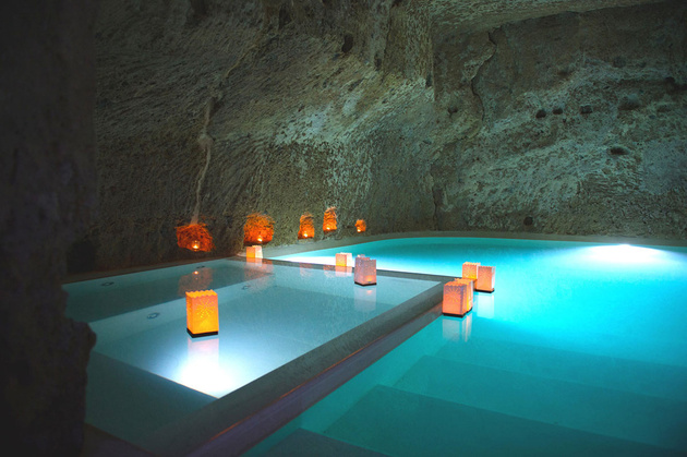 view in gallery awesome cave pools 14th century reno studio f - Cool Pools With Caves