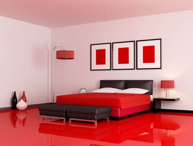 1b red bedroom thumb 630xauto 62036 Decorating with Red Accents: 35 Ways to Rock the Look
