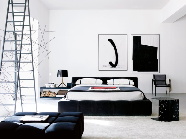 bedroom-with-black-color-accents-bb-italia-tufty-bed.jpg