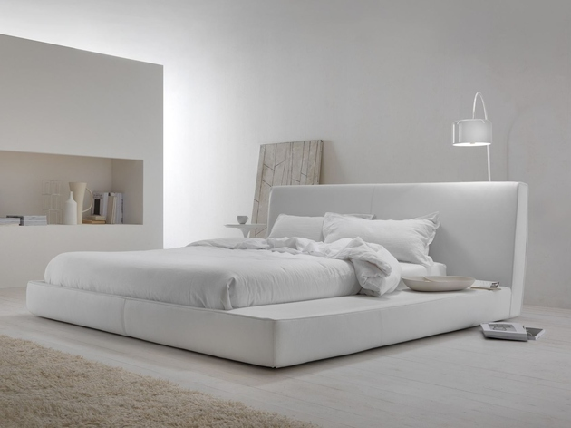 View In Gallery Minimalist White Bedroom Design Island My Home Collection