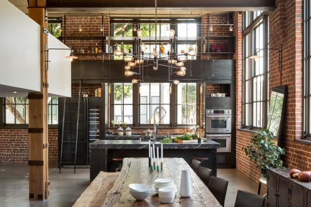 industrial style kitchen for foodies with good taste san francisco thumb 630xauto 63180 Industrial Style Kitchen Design Ideas (Marvelous Images)