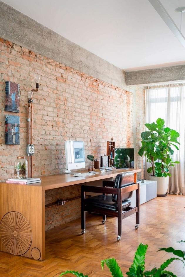 2 exposed structural elements apartment renovation thumb autox945 66605 Exposed Concrete and Brick Walls Highlighted in Apartment Renovation