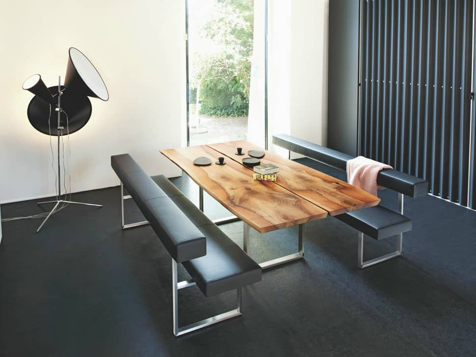 modern kitchen table with bench. view in gallery authentic table from girsberger 1 thumb 630x472 10167 5 looks, dining tables, modern kitchen with bench trendir