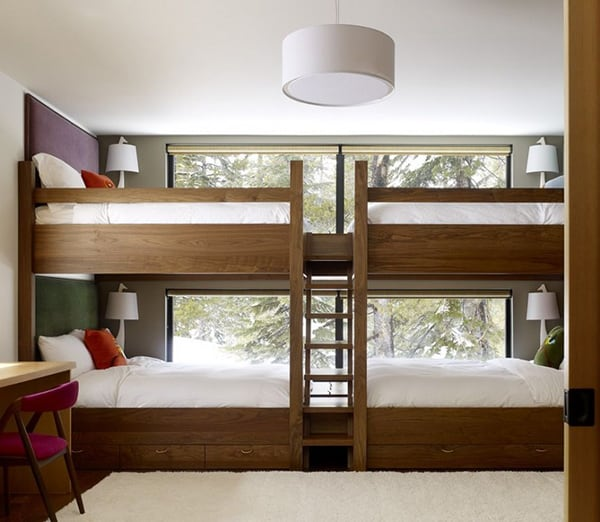 Perfect  Awesome Bunk Beds for Kids Large Bed for Four