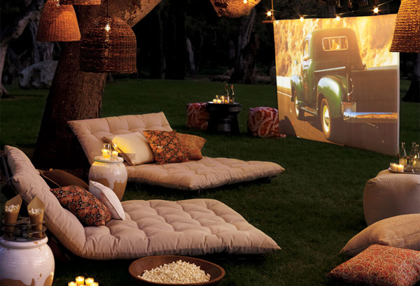 backyard theatre pottery barn 1 Backyard Theatre by Pottery Barn