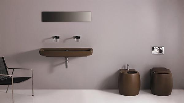 bathroom decorating brown gsg ceramic design Bathroom Decorating Idea from GSC Ceramic Design   A Splash of Color